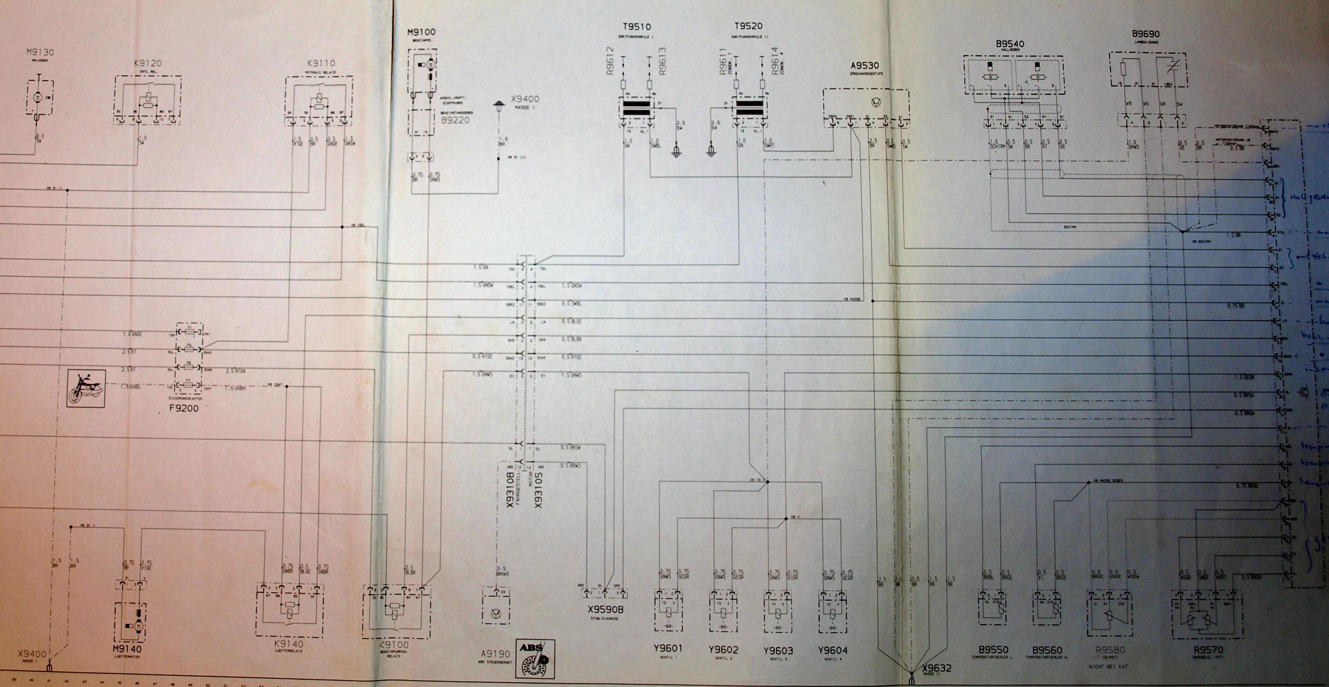 Schema Elettrico K100 : Elektrisch schema van de v modellen k rs en